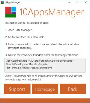 Enlarge 10AppsManager Screenshot