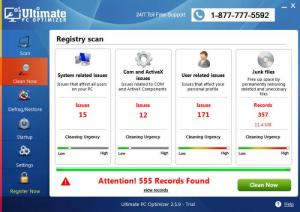 Enlarge Ultimate PC Optimizer Screenshot