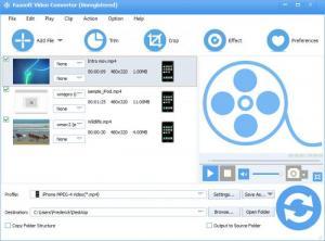 Enlarge Faasoft Video Converter Screenshot