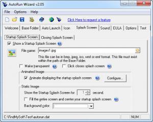 Enlarge AutoRun Wizard Screenshot