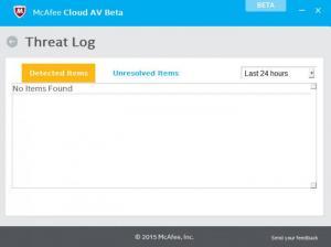 Enlarge McAfee Cloud AV Screenshot
