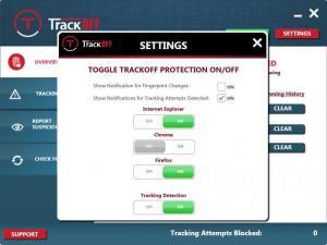 Enlarge TrackOFF Screenshot