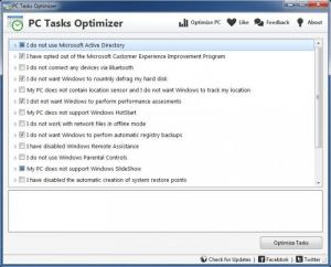 Enlarge PC Tasks Optimizer Screenshot