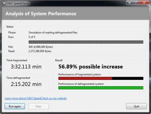 Enlarge O&O SpeedCheck Screenshot