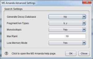 Enlarge SearchGUI Screenshot