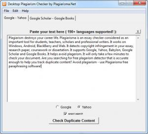 Enlarge Desktop Plagiarism Checker Screenshot