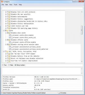 Enlarge ConfigFox Screenshot