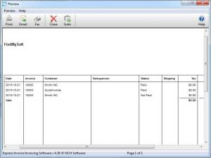 Enlarge Express Invoice Screenshot