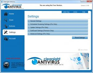Enlarge Clearsight Antivirus Screenshot