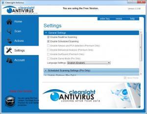 Enlarge Clearsight Antivirus Screenshot