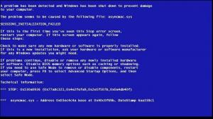 Enlarge BlueScreen Screen Saver Screenshot