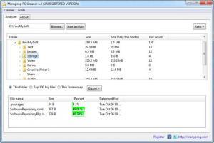 Enlarge Manyprog PC Cleaner Screenshot