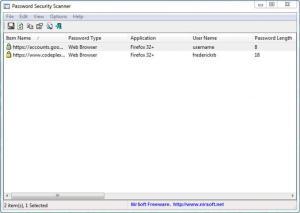 Enlarge Password Security Scanner Screenshot