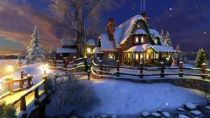 Enlarge White Christmas 3D Screensaver Screenshot