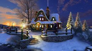 Enlarge White Christmas 3D Screensaver Screenshot