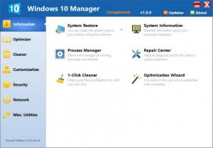 Enlarge Windows 10 Manager Screenshot