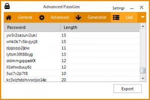 Enlarge Advanced PassGen Screenshot