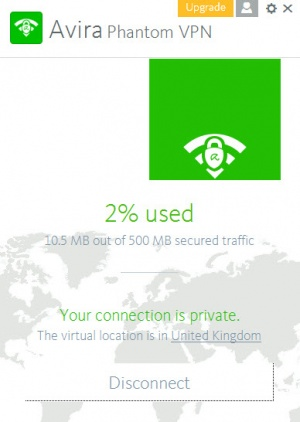 Enlarge Avira Phantom VPN Screenshot