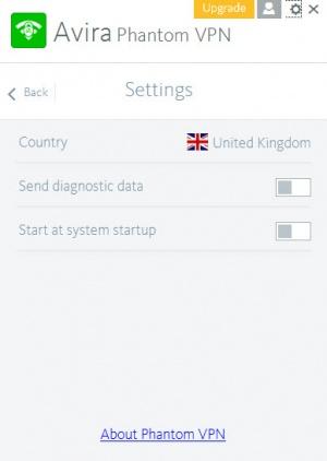 Enlarge Avira Phantom VPN Screenshot