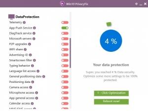 Enlarge Win10PrivacyFix Screenshot