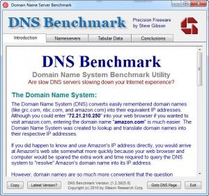 Enlarge DNS Benchmark Screenshot