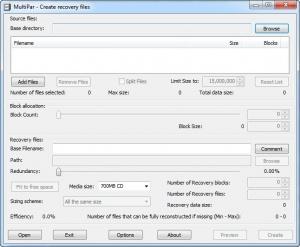 Enlarge MultiPar Screenshot
