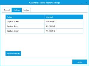 Enlarge Carambis ScreenShooter Screenshot