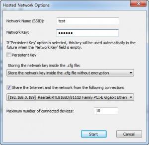 Enlarge HostedNetworkStarter Screenshot