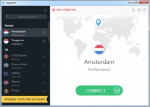 Enlarge TotalVPN Screenshot