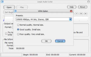 Enlarge Leapic Audio Cutter Free Screenshot