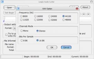 Enlarge Leapic Audio Cutter Free Screenshot