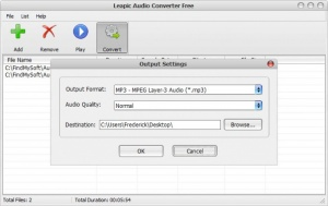 Enlarge Leapic Audio Converter Free Screenshot