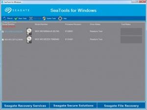 Enlarge SeaTools Screenshot