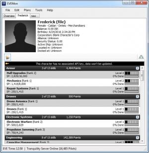 Enlarge EVEMon Screenshot