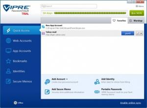 Enlarge VIPRE Password Vault Screenshot