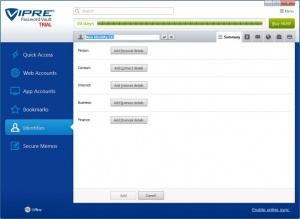 Enlarge VIPRE Password Vault Screenshot