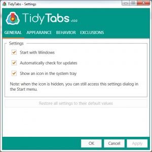 Enlarge TidyTabs Screenshot