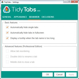 Enlarge TidyTabs Screenshot