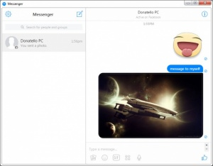 Enlarge Messenger for Desktop Screenshot