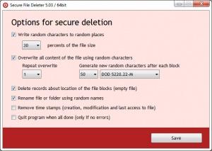 Enlarge Secure File Deleter Screenshot