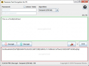 Enlarge Paranoia Text Encryption Screenshot