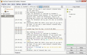 Enlarge HexChat Screenshot