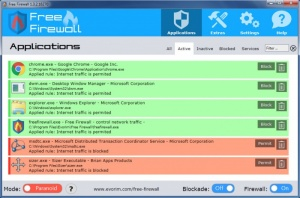 Enlarge Envorim Free Firewall Screenshot
