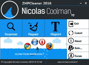 Enlarge ZHPCleaner Screenshot