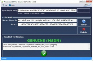 Enlarge Windows and Office Genuine ISO Verifier Screenshot
