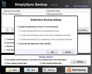 Enlarge SimplySync Backup Screenshot
