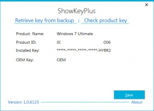 Enlarge ShowKeyPlus Screenshot