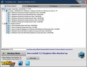 Enlarge Registry Backup Screenshot