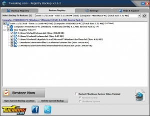 Enlarge Registry Backup Screenshot