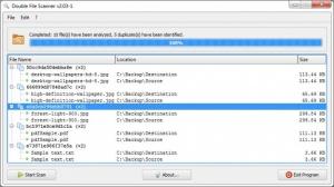 Enlarge Double File Scanner Screenshot